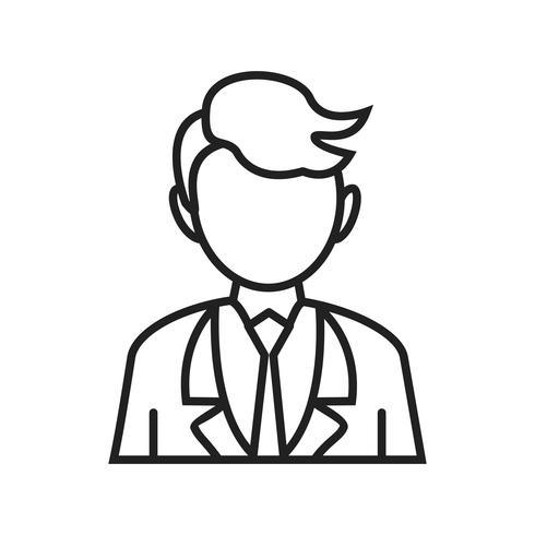 Hombre de negocios línea icono negro