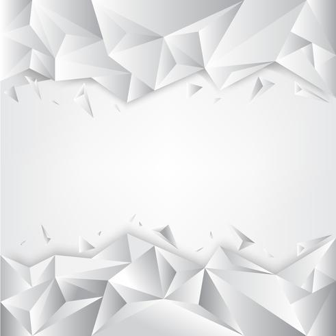 Sfondo bianco poligonale grigio, modelli di design creativo