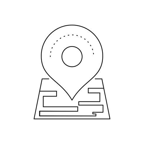 icono de línea de marcador negro