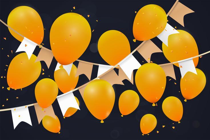 Abstact globo de fondo. Feliz año nuevo o feliz cumpleaños. Aniversario de invitaciones, carteles festivos, tarjetas de felicitación. vector