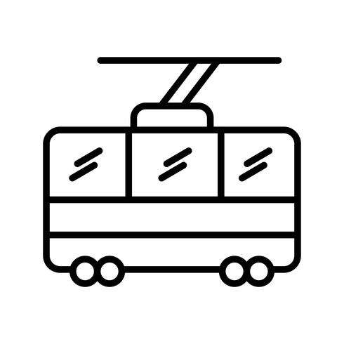 Chair lift Line Black Icon