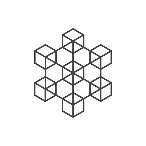 Criptomoneda e iconos de blockchain o Logo. vector