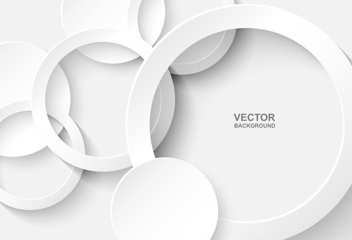 Resumen. Círculo de fondo blanco, luz y sombra. Vector