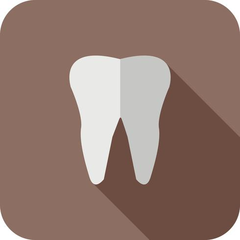 tooth Flat Long Shadow Icon
