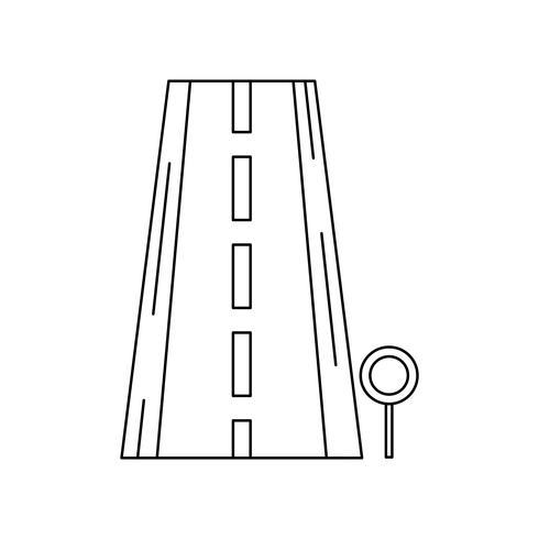 Icône de ligne de route noire