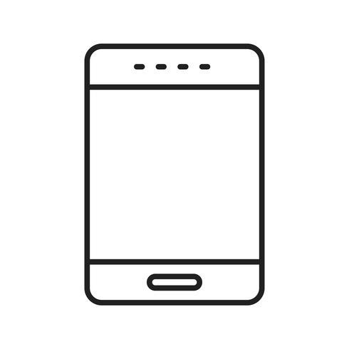 Phone Line Black Icon