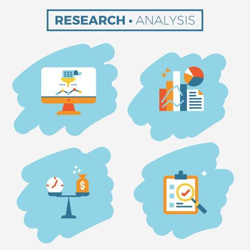 Ilustración del icono de investigación y análisis