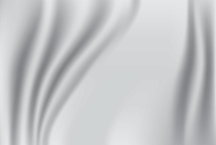 Sfondo astratto tessuto Tessuto di seta bianco e grigio e sfondo delle onde. copia spazio