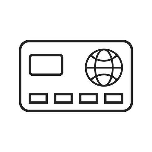 Kreditkort linje svart ikon