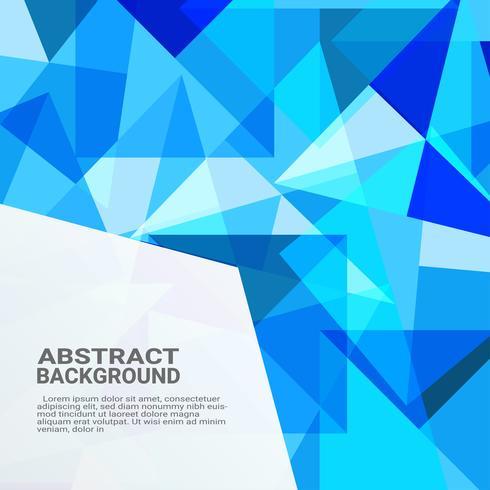Fondo geométrico abstracto. Innovación de la computadora de alta tecnología en el fondo azul. Ilustración de vector eps10.