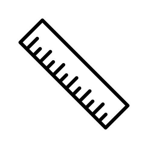 Liniaal lijn zwart pictogram