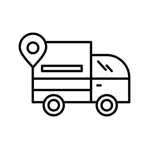 Icono de Van Line Black vector