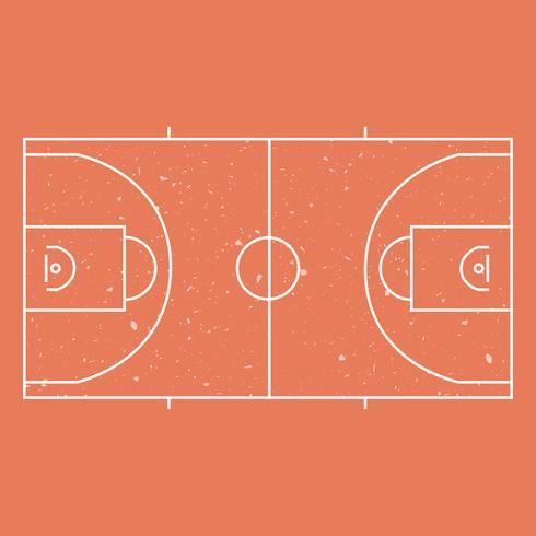 Cancha de basketball vector