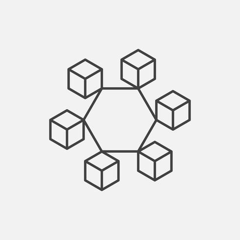 Icônes crypto-monnaie et blockchain ou Logo.