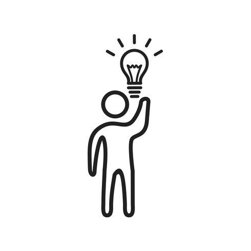 Idea de negocio Line Black Icon vector