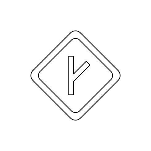 Linked road Line Black Icon