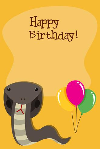 A snake in birthday template