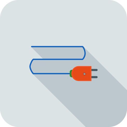 Icono de conexión plana larga sombra vector