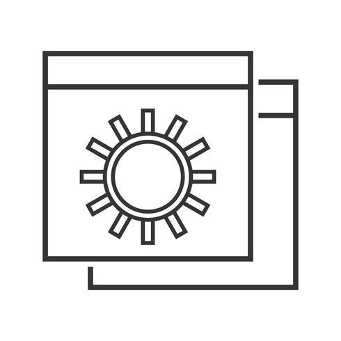 Icono de línea de configuración de sitio web negro