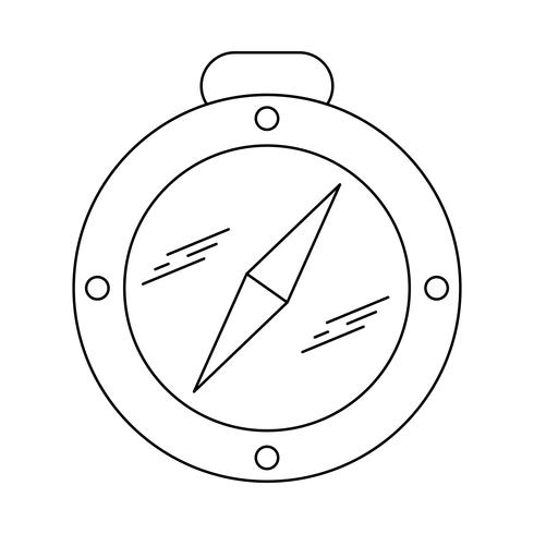 Kompass Linie schwarze Ikone