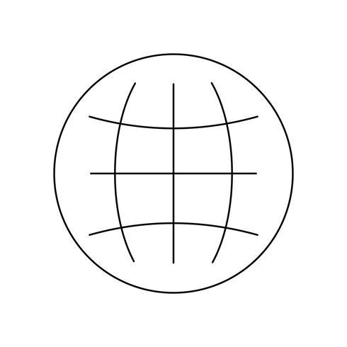 Globus Linie schwarze Ikone