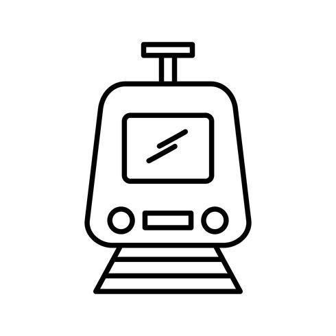 Icono de línea de tren negro vector