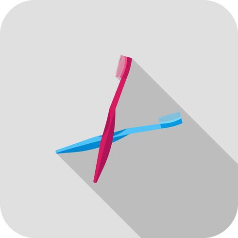 Pinsel flach lange Schatten-Symbol
