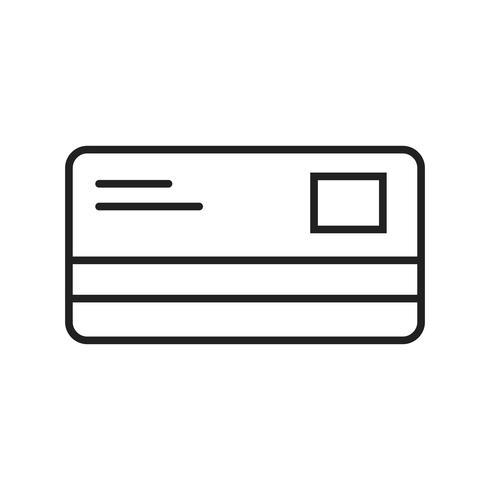 Tarjeta de crédito Line Black Icon vector