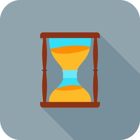 Icono de larga sombra plana reloj de arena