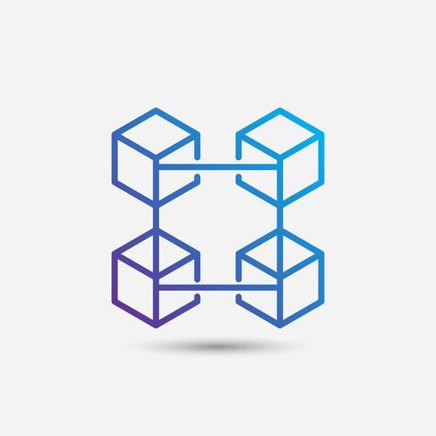 Criptomoneda e iconos de blockchain o Logo.