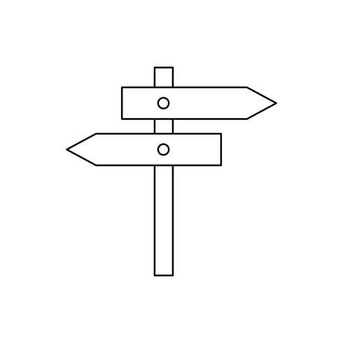 Letrero de calle icono de línea negra vector