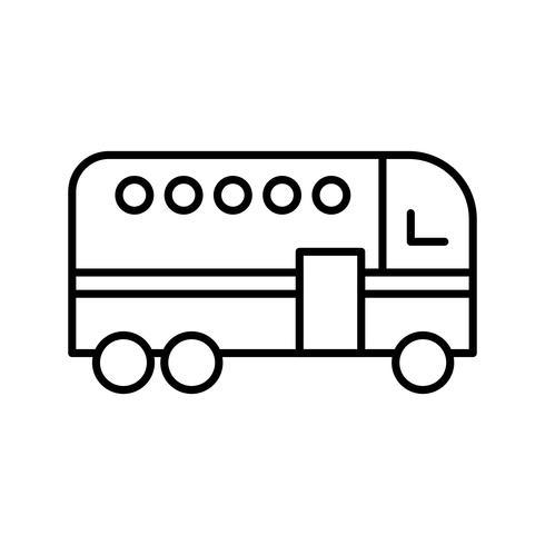 Icono de línea de autobús negro vector