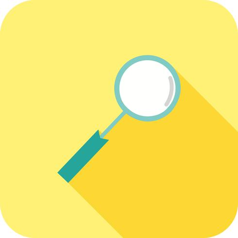 Magnifying glass Flat Long Shadow Icon