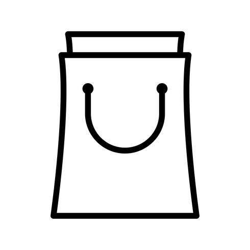 icono de linea de bolsa negra vector