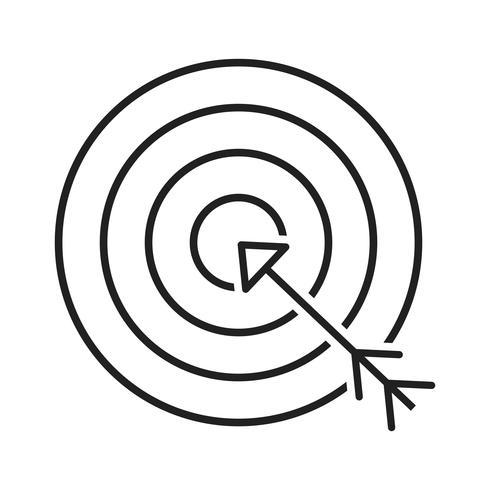 Icono de línea económica objetivo negro vector