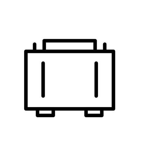 Aktentasche Line Black Icon