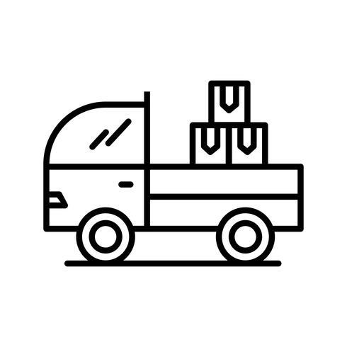 Icono de línea de carga negro vector