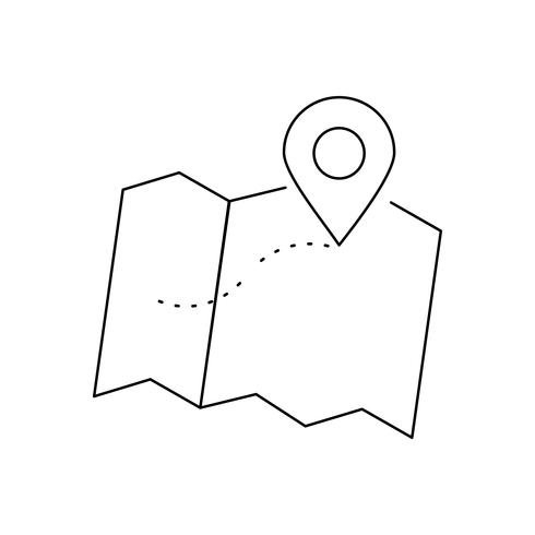 Positionslinie Schwarzes Symbol