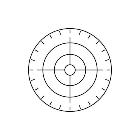 Icona della linea di destinazione nera vettore