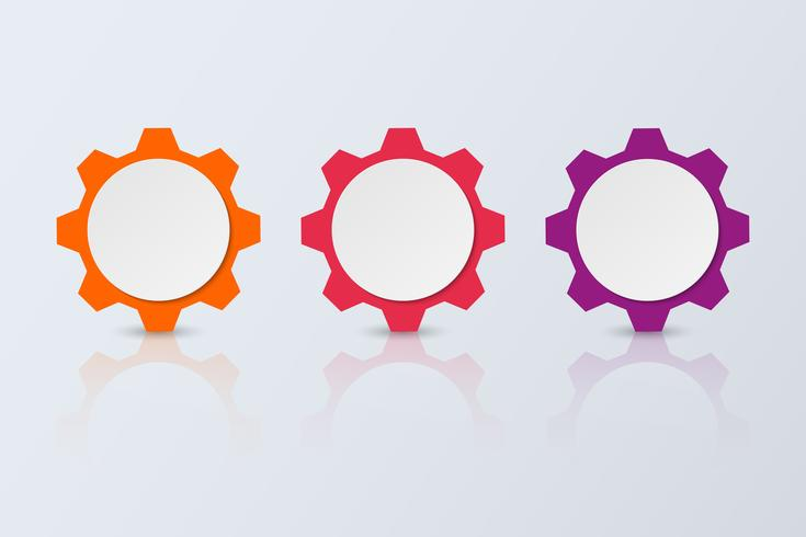 Infografía de tres pasos. Plantilla de negocio de vector