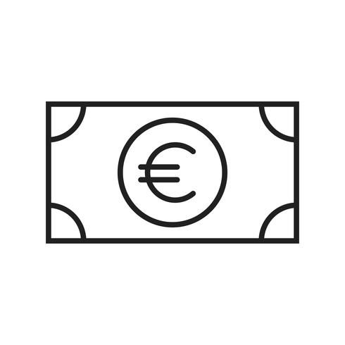 Euro Line Black Icon