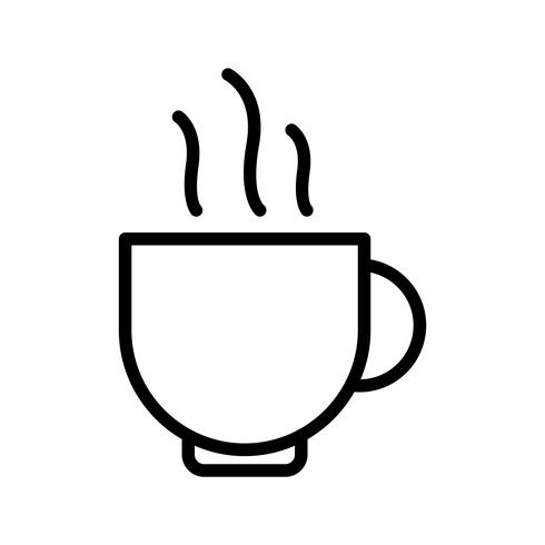 Taza de té Line Black Icon vector