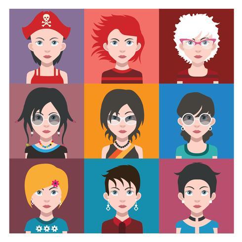 Avatar di persone con sfondi colorati