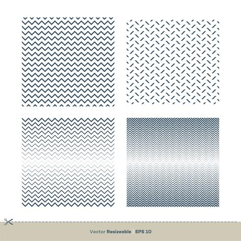 set Zigzag Line Seamless Pattern Set Vector Template Illustratie Ontwerp