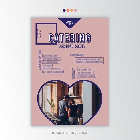 Catering Wedding Planner Creative Business Design vector