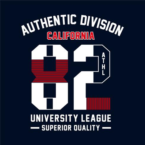 Athletic sport California typography, t-shirt graphics