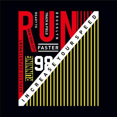 Athletic Sport Marathon erhöhen Sie Ihre Geschwindigkeit Typografie