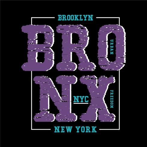 bronx nyc typografi design t-shirt vektor