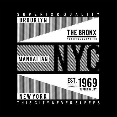 brooklyn typography design tee for t-shirt