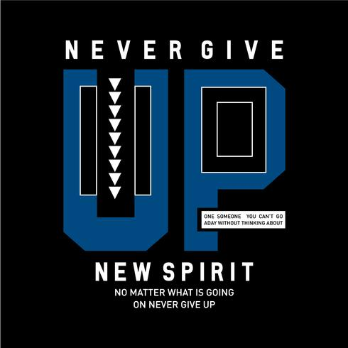La motivazione ispiratrice cita un nuovo spirito. poster di tipografia e concetto di design t-shirt